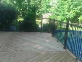 Rampe extérieur contour de piscine